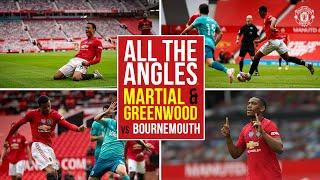 All the Angles   Martial & Greenwood's spectacular strikes v Bournemouth!   Manchester United