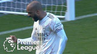 Alexandre Lacazette smashes Arsenal into 2-1 lead v. Leicester City | Premier League | NBC Sports