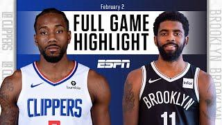 LA Clippers vs. Brooklyn Nets [FULL GAME HIGHLIGHTS] | NBA on ESPN