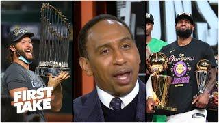 It's 'phenomenal' that Lakers and Dodgers honored Kobe by winning titles - Stephen A. | First Take