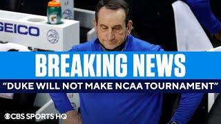 BREAKING: Duke REMOVED from ACC Tournament because of COVID-19 issues | CBS Sports HQ