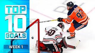 Top 10 Goals from Week 1 of the NHL's Return to Play