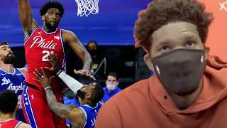 Joel Embiid Claims His Serious Back Injury Is LeBron's Fault From Flagrant Foul Back In January