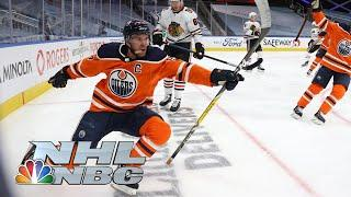 Connor McDavid show continues for Oilers with hat trick vs. Blackhawks | NBC Sports