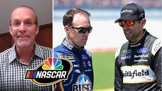 Kevin Harvick, Aric Almirola shine for SHR at Indy | NASCAR America at Home | Motorsports on NBC