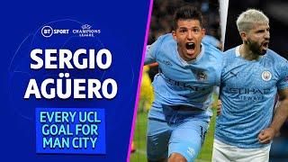 Every Sergio Agüero goal for Manchester City in the Champions League