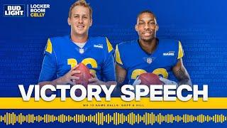 Listen as Sean McVay Awards Game Balls to QB Jared Goff & CB Troy Hill | Victory Speech