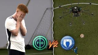 WE PLAYED FOOTBALL AGAINST A DRONE   FOOTBALL DAILY VS EURO FOOTBALL DAILY