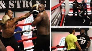 ANTHONY YARDE DROPS TUNDE AJAYI AS PAD SESSION TURNS IN TO SPARRING SESSION! CRAZY POWER AND SPEED!