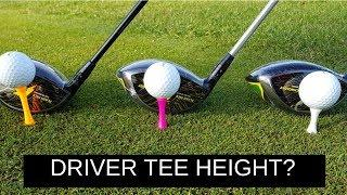 HIT YOUR DRIVER FURTHER USING CORRECT TEE HEIGHT