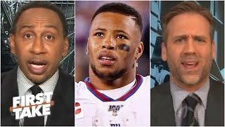 'OH STOP IT!' - Stephen A. shuts down Max's take on Saquon Barkley | First Take