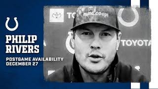 Philip Rivers Postgame Press Conference: Colts At Steelers