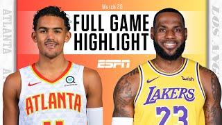 LeBron James leaves with ankle injury as Lakers fall to Hawks [FULL GAME HIGHLIGHTS] | NBA on ESPN