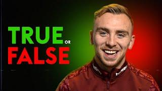 You will NEVER guess Jarrod Bowen's New Year's Resolution! | TRUE or FALSE with Jarrod Bowen