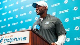 Dolphins HC Brian Flores Meets With the Media | August 10, 2020