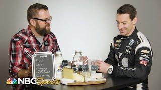 IndyCar's Simon Pagenaud joins Rutledge Wood for Questions in a Milk Bottle | Motorsports on NBC