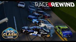 15 minute replay: All the bumpin' and banging' in the Busch Clash From Daytona