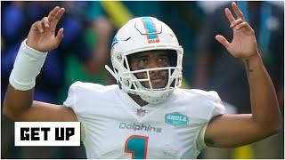 Discussing Tua Tagovailoa winning his 1st NFL start in the Dolphins vs. Rams matchup | Get Up