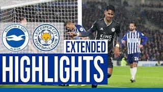 Brighton & Hove Albion 0 Leicester City 2 | Extended Highlights