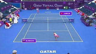 Ons Jabeur vs. Anna Blinkova | 2021 Doha Round 1 | WTA Match Highlights