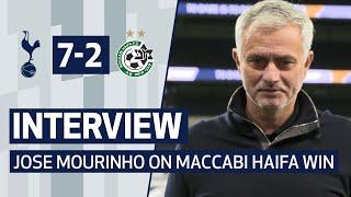 INTERVIEW | JOSE MOURINHO REACTS TO SPURS 7-2 WIN OVER MACCABI HAIFA