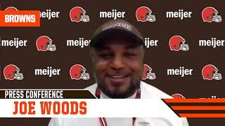 """Joe Woods: """"Ronnie Harrison is back on the field practicing, he should play in the near future."""""""