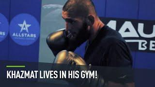 Khamzat Chimaev back in the gym just DAYS after making UFC history