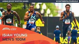 Isiah young beats Noah Lyles over 100m in Boston | Continental Tour Gold