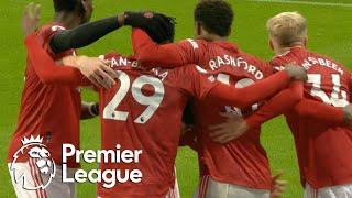 Aaron Wan-Bissaka thunders home Manchester United's third goal   Premier League   NBC Sports