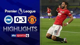 Bruno Fernandes scores two in dazzling display | Brighton 0-3 Manchester United | EPL Highlights