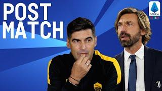 Roma 2-2 Juventus | Fonseca & Pirlo Post Match Press Conference | Serie A TIM