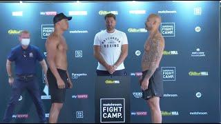HEAVYWEIGHTS COLLIDE! - FABIO WARDLEY v SIMON VALLILY - OFFICIAL WEIGH IN (WITH EDDIE HEARN)