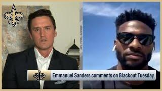 Emmanuel Sanders Reacts to Killing of George Floyd | New Orleans Saints