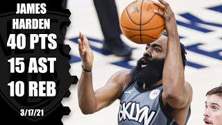 James Harden's ridiculous game without Kyrie & KD powers Nets past Pacers [HIGHLIGHTS] | NBA on ESPN