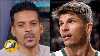 Discussing Kyle Korver's emotional comments on the Bucks' protest | The Jump