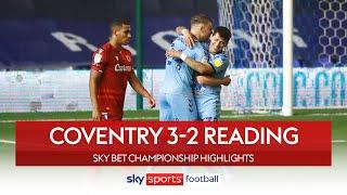 Coventry end Reading's unbeaten record!   Coventry 3-2 Reading   EFL Championship Highlights