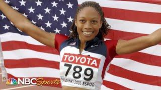 19-year-old Allyson Felix wins first World Title in 2005 | NBC Sports