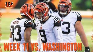 Getting Ready for the Washington Football Team in Week 11 | Bengals Weekly