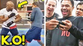 (WOW!) MAYWEATHER SPARRING SESSION LEAKED AHEAD OF BOXING COMEBACK! TRAINING FOR PACQUIAO REMATCH