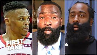 Russell Westbrook will get the best out of Harden in the playoffs - Kendrick Perkins | First Take