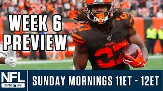 NFL Week 6 Picks & Fantasy Advice LIVE: Start 'Em & Sit 'Em, Value Plays & More!