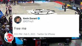 Kevin Durant health & safety protocol saga as it happened | Raptors vs Nets Highlights | NBA on ESPN