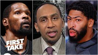 Stephen A. reacts to Anthony Davis' injury: The Nets can win the championship | First Take