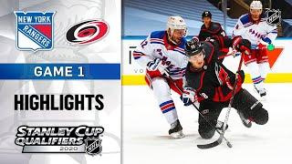 NHL Highlights | Rangers @ Hurricanes, GM1 - Aug. 1, 2020