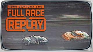 1990 Daytona 500 | Cope vs. Earnhardt and the filming of Days of Thunder | Classic Full Race Replay
