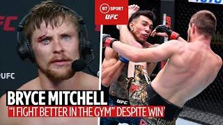 """""""I fight better in the gym!"""" Bryce Mitchell disappointed despite fifth UFC win"""