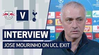 INTERVIEW | JOSE MOURINHO ON CHAMPIONS LEAGUE EXIT | SPURS 0-3 RB LEIPZIG