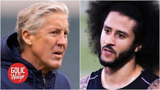 Pete Carroll says he regrets not signing Colin Kaepernick to the Seahawks in 2017   Golic and Wingo