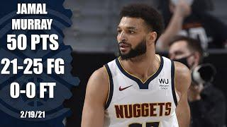Jamal Murray sets NBA record for most points without a free throw [HIGHLIGHTS] | NBA on ESPN