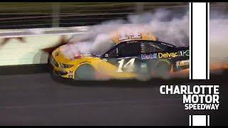 Bowyer makes hard contact with the wall at Charlotte | NASCAR at Charlotte Motor Speedway